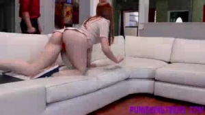 Hot redheaded chick fucked hard during sesh