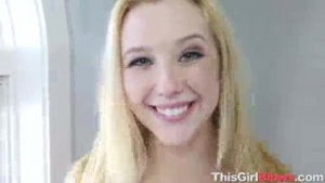 Samantha Rone is giving a titjob to her husband before fucking him hard, until they both cum