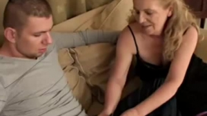 Chubby mature grandma with a dildo
